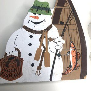 Vintage Accents - The Cat's Meow Snowman Collection Wooden Decor